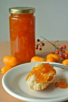 Kumquat marmalade. Kumquats look like mini oranges and make a delicious and sweet marmalade.