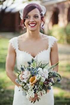 Beautiful free-form bouquet on StyleMeP Photography by, Floral Design by Life Style Bride Bouquets, Flower Bouquet Wedding, Floral Wedding, Rustic Wedding, Wedding Flower Inspiration, Wedding Ideas, Wedding Planning, Wedding Designs, Outdoor Wedding Venues