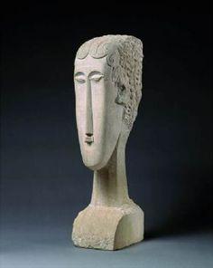 1912. Testa di donna, Modigliani