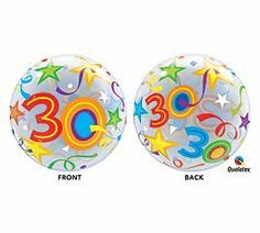 Buy Bubbles Helium Grade Balloon Aged 30 Brilliant Stars For Party Decoration - and Find More Graduation Party Decorations enjoy up to off. Plastic Balloons, Bubble Balloons, Latex Balloons, Bubbles, 30th Birthday Balloons, Happy 30th Birthday, Graduation Party Decor, Program Design, Birthday Decorations