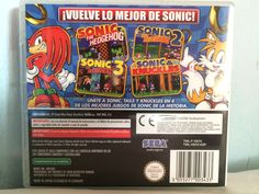 Sonic Classic Collection game behind.