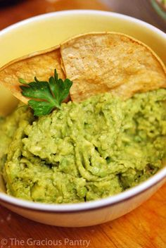 Clean Eating Recipes | Clean Eating Chips And Guacamole. I make this frequently, sometimes using the package of guacamole seasoning from the store. Can also add mashed peas to make it healthier!