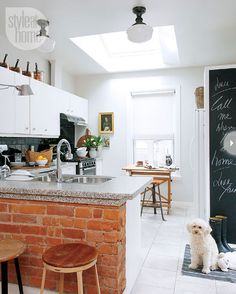 chalkboard and brick | style at home