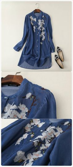If you're searching for a fun and easy outfit then this is the dress for you!  More denim dress collection at AZBRO!