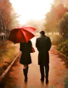 Daniel Del Orfano's red umbrella