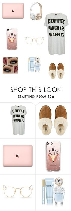 """Hey 👋"" by dajahknox ❤ liked on Polyvore featuring Topshop, UGG, Casetify, Ray-Ban and Marc Jacobs"