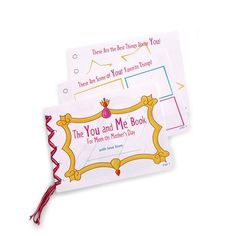 Mother's Day printable: The You and Me Book