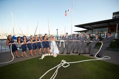 Tamara & Curtis tie the knot at the San Diego Yacht Club - read more about this real nautical themed wedding.