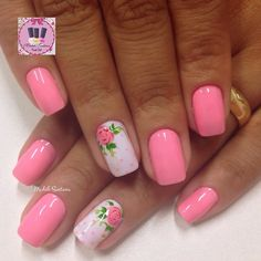 35 Really Chic Pink Nail Designs 2017 Nail Designs 2017, Fingernail Designs, Pink Nail Designs, Beautiful Nail Designs, Gorgeous Nails, Pretty Nails, Spring Nails, Summer Nails, Vintage Nails
