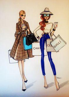 ORIGINAL Fashion illustration by loveillustration on Etsy