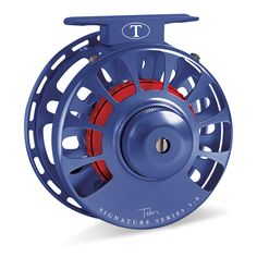 Tibor Signature Series Fly Reel Royal Blue with Crimson Hub