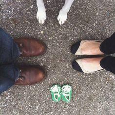 Ideas para anunciar el embarazo con perros y mascotas en www.madreyblogger...