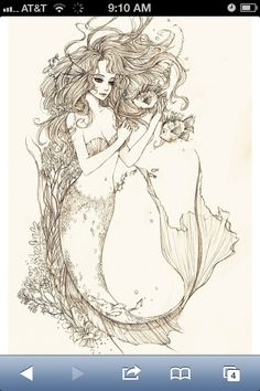 Okay, may have found a reference for my mermaid/Pisces tattoo if my other plans don't pan out. Holy shit! ♥