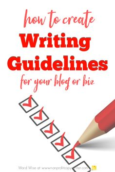 How to create #writing guidelines for your blog or biz with Word Wise at Nonprofit Copywriter #blogging #nonprofits #freelancing Blog Writing Tips, Easy Writing, Pre Writing, Writing Resources, Apa Writing Format, Writing A Mission Statement, Unique Selling Proposition, Creating A Business Plan, Blog Websites