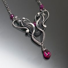 Ruby Necklace  Fine Silver Necklace  Aries by sarahndippity, $140.00
