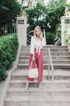 18553bab903 How to Style Wide-Leg Trousers from LC Lauren Conrad at Kohl s