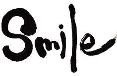 """smile"" #Shodo #Calligraphy #art #Kalligrafie"