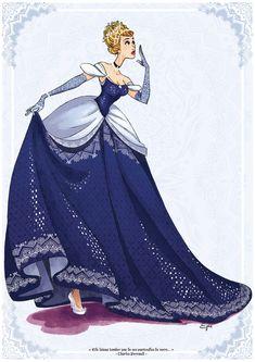 Cinderella by AzureOcean.deviantart.com on @deviantART - I actually love the darker blue on her.  Disney Princess. Fan art. Creative. Diva. Beautiful. Royalty. Fantasy. #ForeverEileen