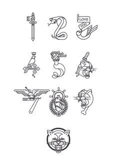 """La numerografía de Jose Luis Perez Ramos, a.k.a. Bnomio, está basada en los Tattoo Flash que se exhiben en las paredes de los salones de tatuajes y en las carpetas que sirven no sólo de decoración, sino que también para darle ideas a los clientes sobre el diseño que se quieren tatuar. """"Siempre me han …"""
