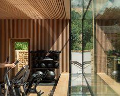 Invisible Studio builds giant window in Somerset hotel garden Somerset Hotel, Urban Rooms, Hotel Gym, Studio Build, Gym Interior, Italian Furniture Design, Home Gym Design, Design Design, Timber Buildings