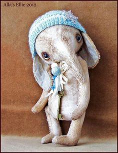 by Alla Bears original artist Elephant Ellie 10 by AllaBears,: