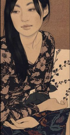 By Yasunari Ikenaga, Natsuko, Blood Mikiko. Japanese Art Modern, Japanese Prints, Art Chinois, Korean Painting, Japan Painting, Portrait Art, Portraits, Art Japonais, Popular Art