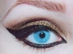 Leopard print eyeshadow