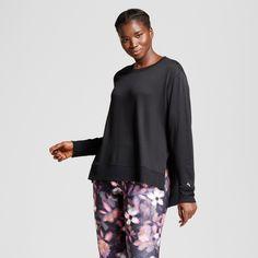 Plus Size Women's Plus Cozy Layering Sweatshirt - JoyLab Black 1X