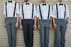 Black suspenders and bow ties for the gents!