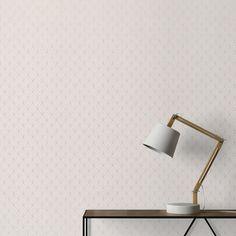 Papier peint ARDECO, 100% intissé losanges, cuivré et gris - Peinture et Papier Peint - Desk Lamp, Table Lamp, Decoration, Wall Lights, Lighting, Home Decor, Gray, Bedroom Office, Wall Cladding