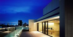 spacious roof balcony