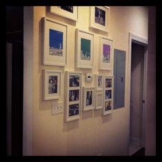 Gallery wall in a small condo