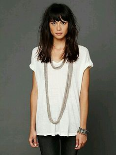 43 Ideas For Hair Bangs Long 2018 43 Ideen für lange Haare 2018 My Hairstyle, Hairstyles With Bangs, Pretty Hairstyles, Thick Hair Bangs, Heavy Bangs, Corte Y Color, Loop Scarf, Great Hair, Cut And Style