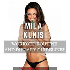 Mila Kunis Workout Routine and Diet Plan A Nerd Queen with an Incredible Physique is part of Celebrity workout routine - Mila Kunis Body, Fitness Tips, Health Fitness, Fitness Plan, Fitness Exercises, Fitness Motivation, Celebrity Diets, Celebrity Fitness, Celebrity Workout Style