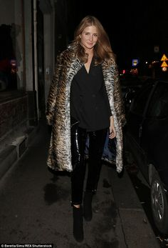Dazzling: The former Made In Chelsea star dazzled as she slipped on a pair of skintight pa...