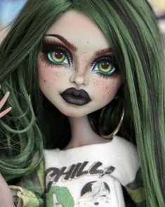 Monster High Custom Monster High Dolls, Monster Dolls, Monster High Repaint, Custom Dolls, Monster High Art, Bratz Doll, Ooak Dolls, Barbie Dolls, Art Dolls