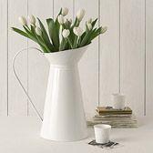 Beautiful white tulips