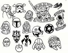 Star Wars Tattoo Flash Sheet by creativeodditiesart