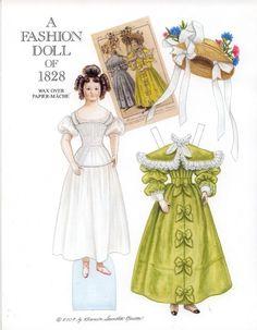 A Fashion Doll of 1828 by Brenda Sneathen Mattox | Gabi's Paper Dolls