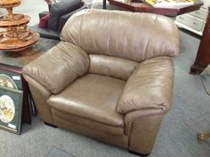 Leather Lounge Chair Lounge chair to match the leather 3 seater. Perfect condition Item 117-2. Price $280.00