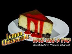 Lemon cheesecake with a chocolate crumb base topped with a chocolate ganache ! This is an easy cheesecake that is very delicious !  I start off showing you how to make the chocolate crumb base, then we move on to making the cheesecake filling, after that I top if off with a rich chocolate ganache. In this video, you also see a coulis aux fraises, ( strawberry sauce ) which I have a link to at the end of this video. Check my channel for the chocolate ganache.