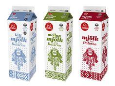 Milk package design by Joakim Sundström, via Flickr
