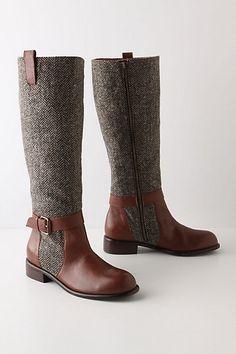 tweed boots