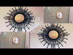 DIY Home Decor Easy to wonderful suggestions - Utterly creative answers to arrange a wonderful and warm diy home decor dollar stores wall art . The Fantabulous examples generated on this creative day 20190131 , Post 3074826400 Dollar Tree Mirrors, Dollar Tree Decor, Dollar Tree Crafts, Glam Mirror, Diy Mirror, Mirror Ideas, Diy Home Decor Easy, Diy Home Decor Projects, Mirror Crafts