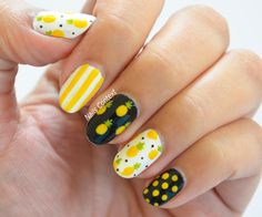 Nails for Summer Pineapple Nails for Summer Pineapple Nail Design, Pineapple Nails, Nails For Kids, Girls Nails, Almond Acrylic Nails, Best Acrylic Nails, Lemon Nails, Acylic Nails, Fruit Nail Art