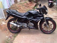 Modif motor Tiger tahun 2005 hitam - simple