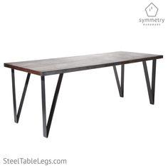 Bar Height Table Leg Jumbo Flat Pin SINGLE LEG Dining Room Table Legs, Metal Leg Dining Table, Coffee Table Legs Metal, Steel Table Legs, Metal Tables, Patio Dining, Dining Tables, Dining Set, Porch Furniture