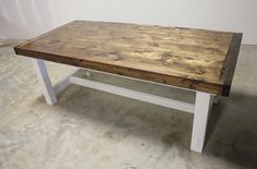 James+James expandable farmhouse table. #PinItToWinIt #James+James - This would look great in my new dining room!!