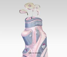 Hello Kitty Gray & Pink Golf Bag