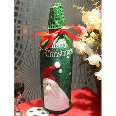 RoseWholesale - Rosewholesale Christmas Wine Bottle Cover Bag - AdoreWe.com